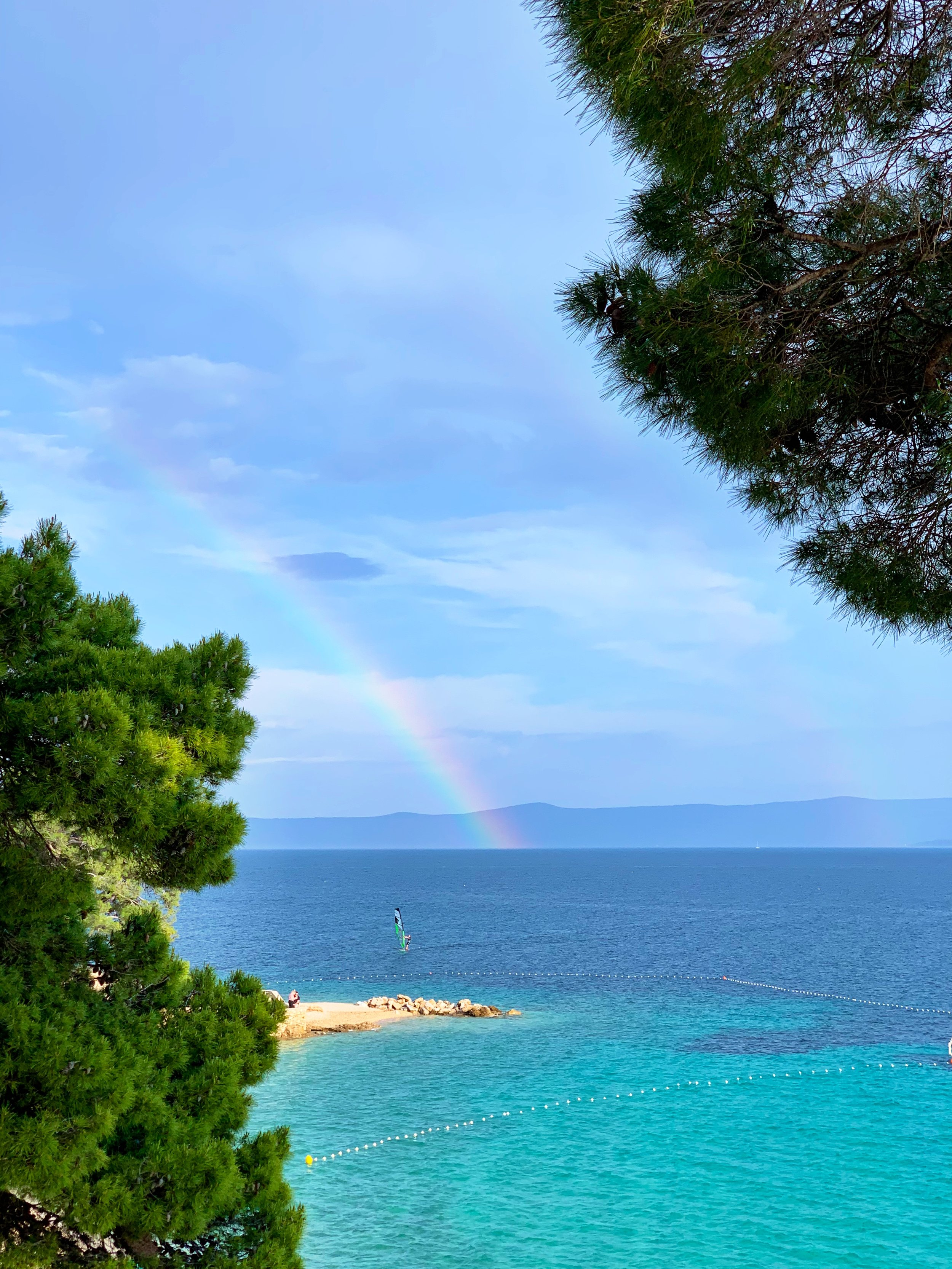 Overlooking the Adriatic Sea in Bol, Brac, Croatia