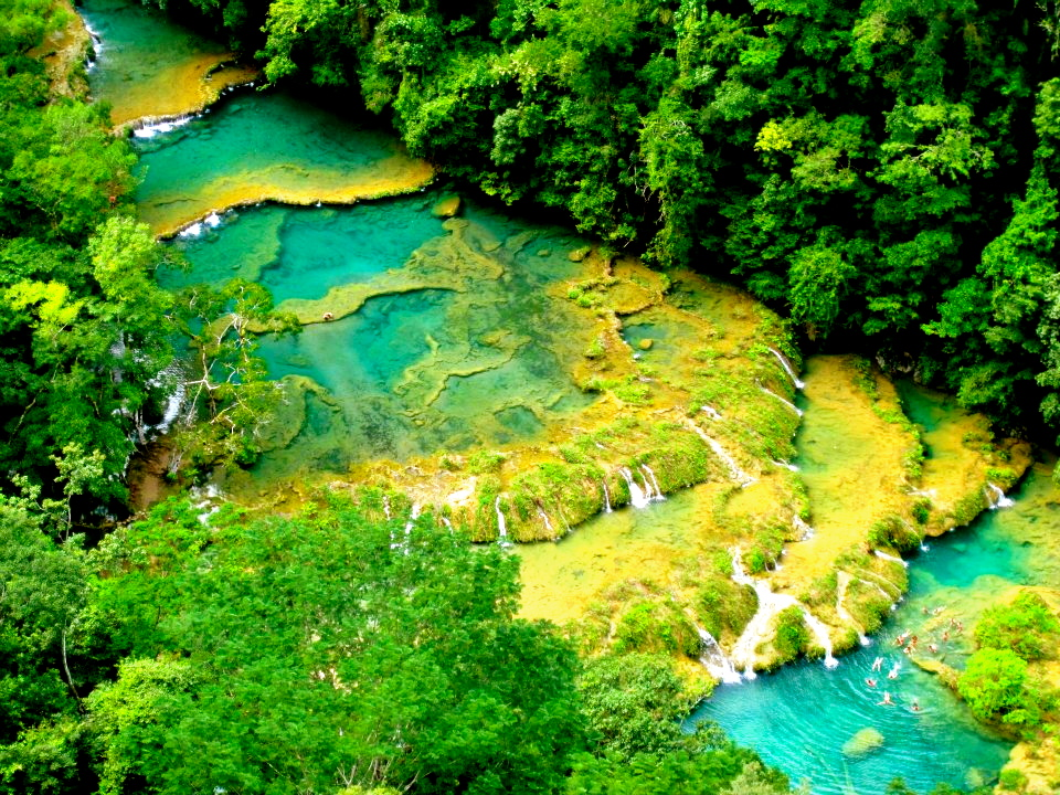 Semuc Champey at El Mirador Viewpoint by Lucy Maynard