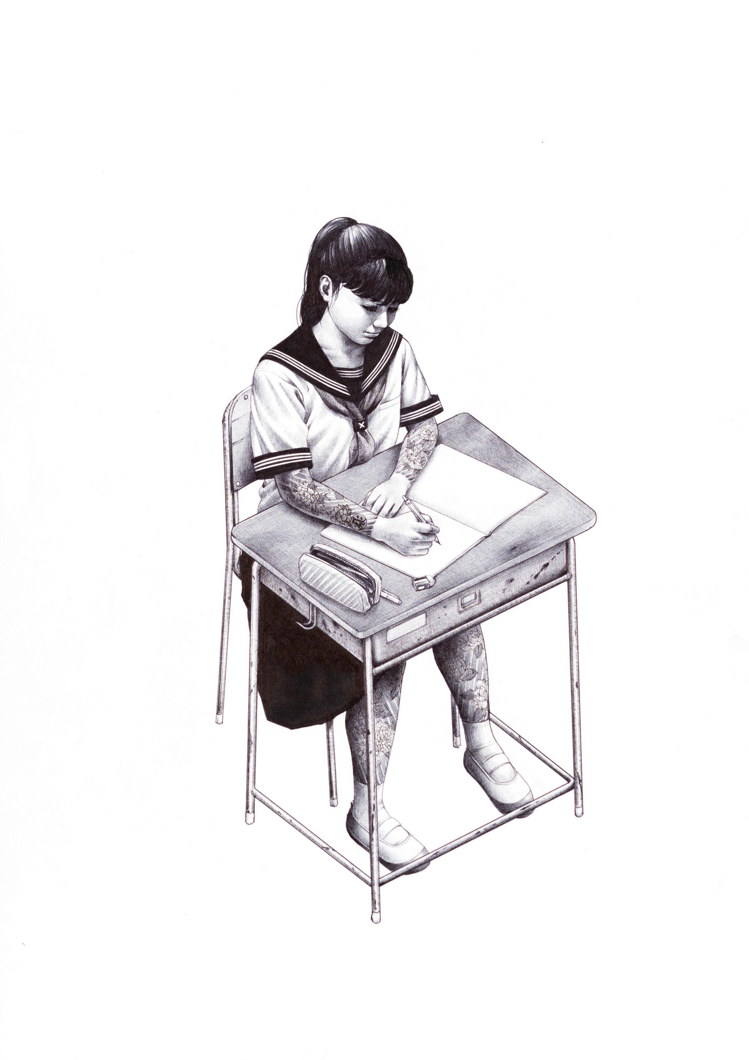School Girls 1/4, Ora Ora by Shohei Otomo