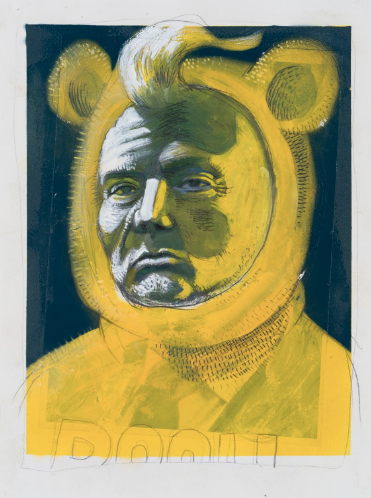 Backwoods Gallery exhibition The Resistible Rise of a Bear with Little Brain by Stephen Ives