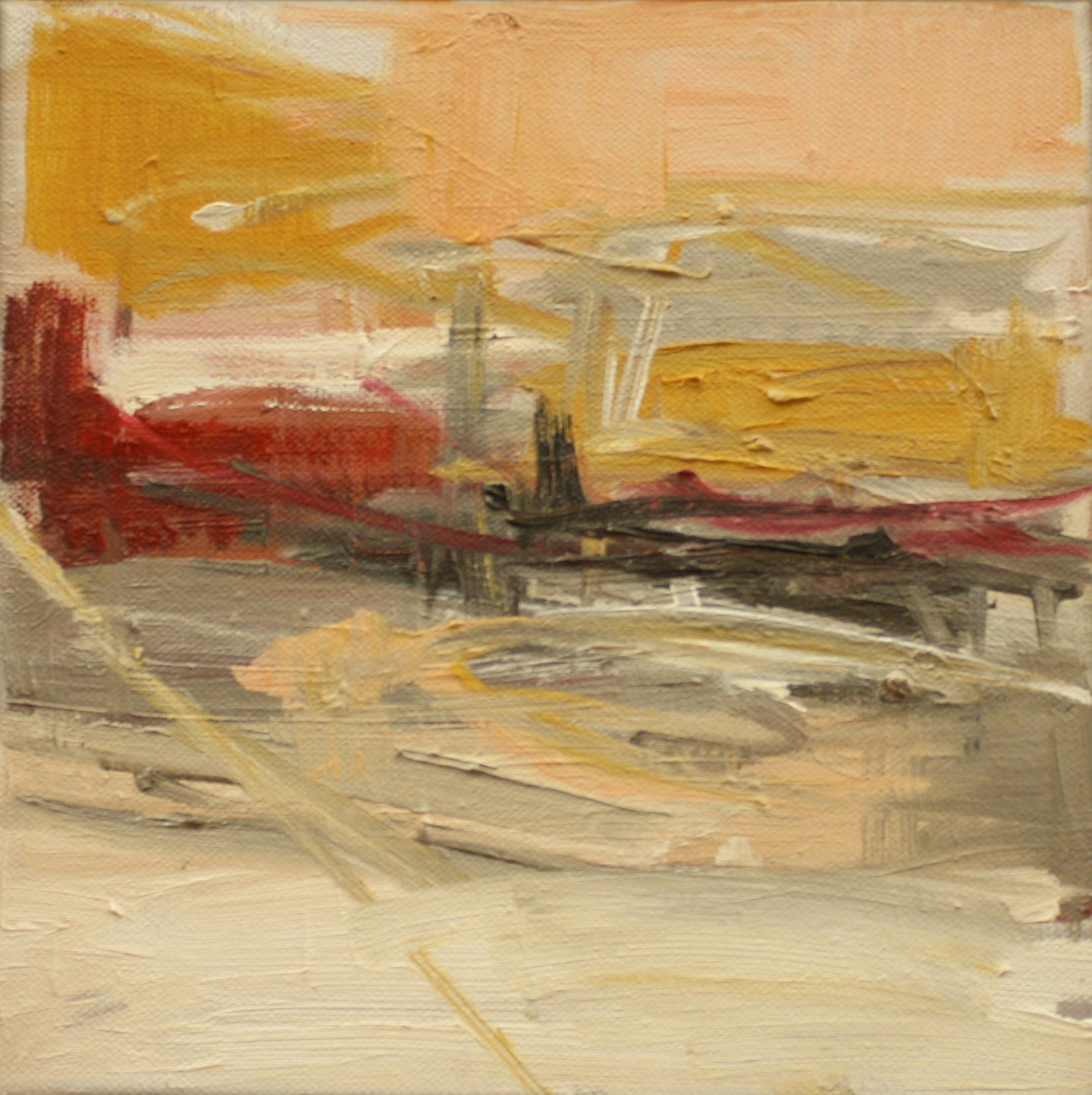 Painting_62_Study of a Primitive Horizon, oil on canvas, 10 x 10 in.JPG