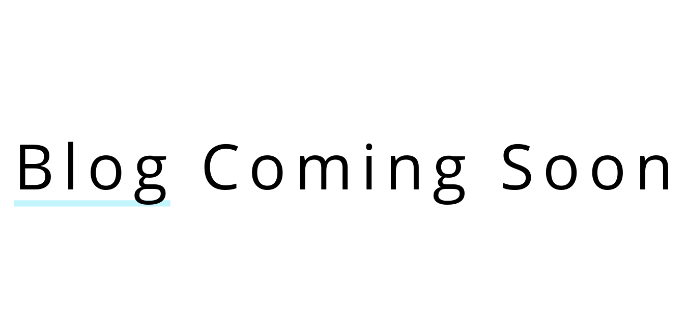 Blog coming soon