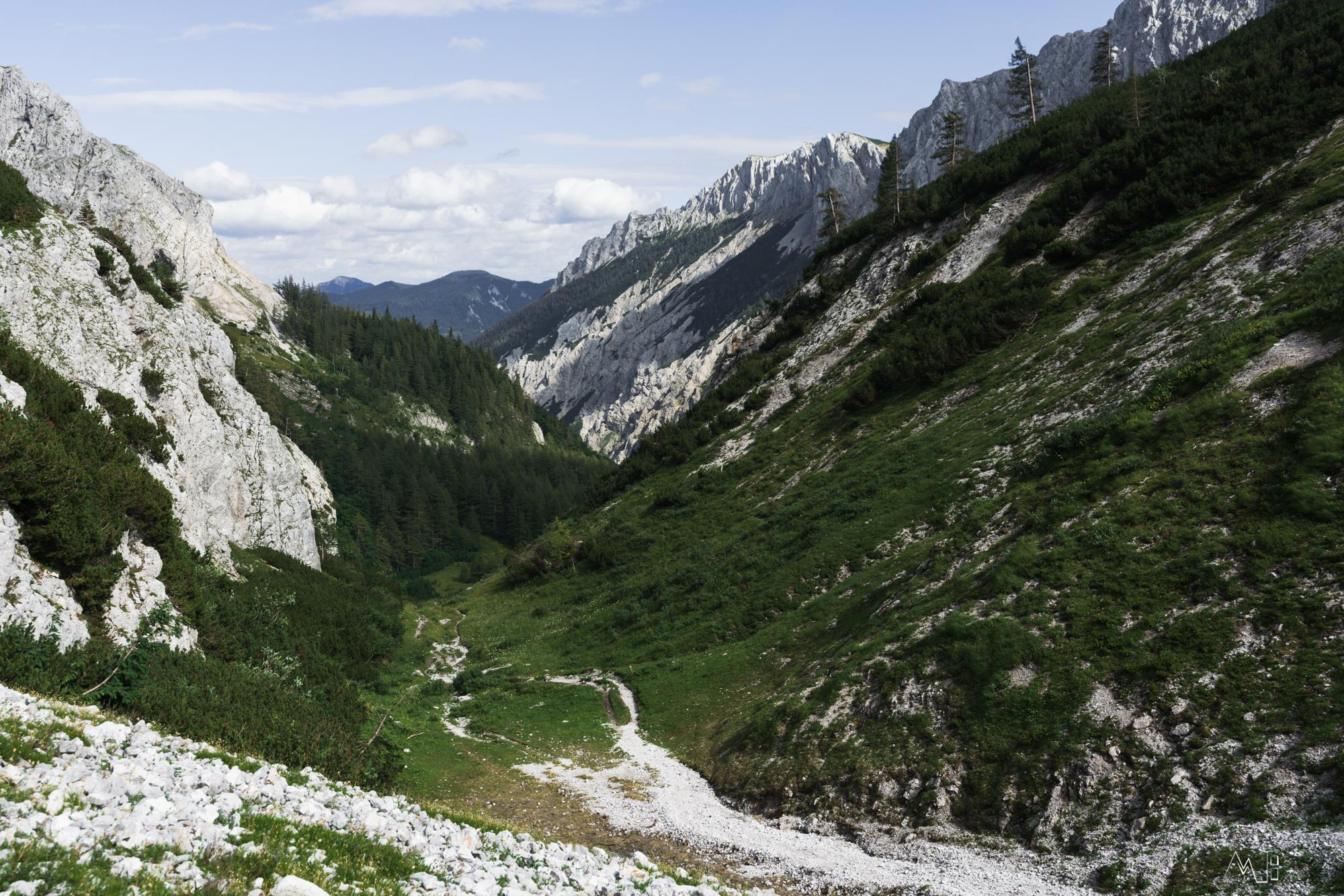 Blick vom Franzosenkreuz zurück nach Seewiesen