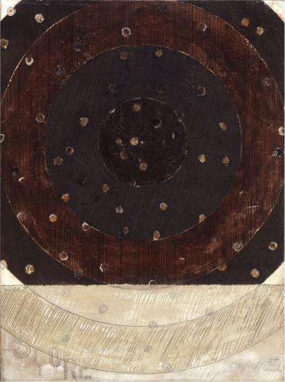 Georges Noël,  Score,  1967, 130 x 97 cm, Mischtechnik auf Leinwand