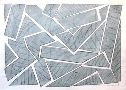 Georges Noël,  Sans Titre,  1979, 91 x 125 cm, Mischtechnik auf Papier