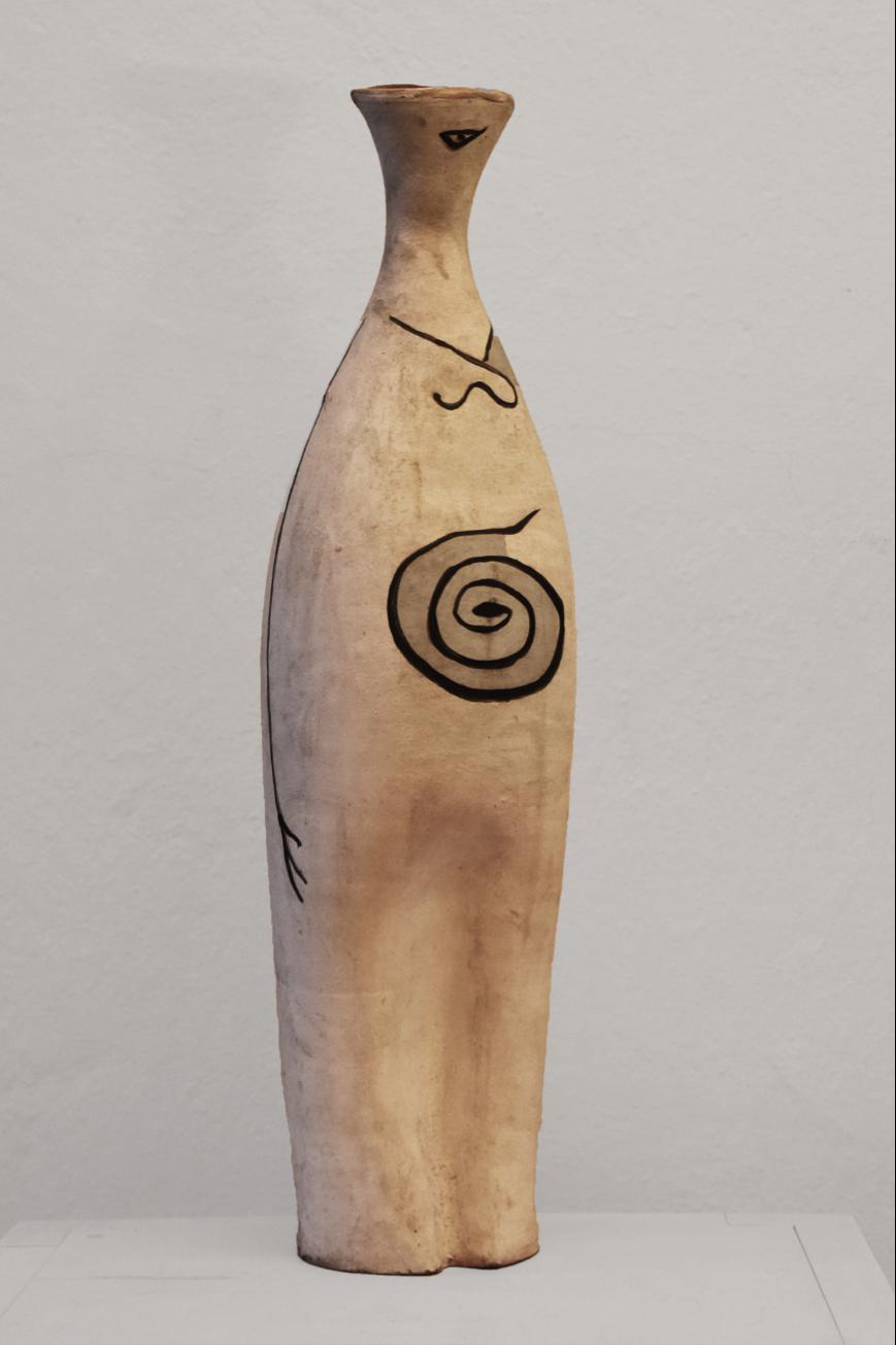 Margrit Linck,  Spiralenfrau , 1951, 43.4 cm (h), terracotta, painted
