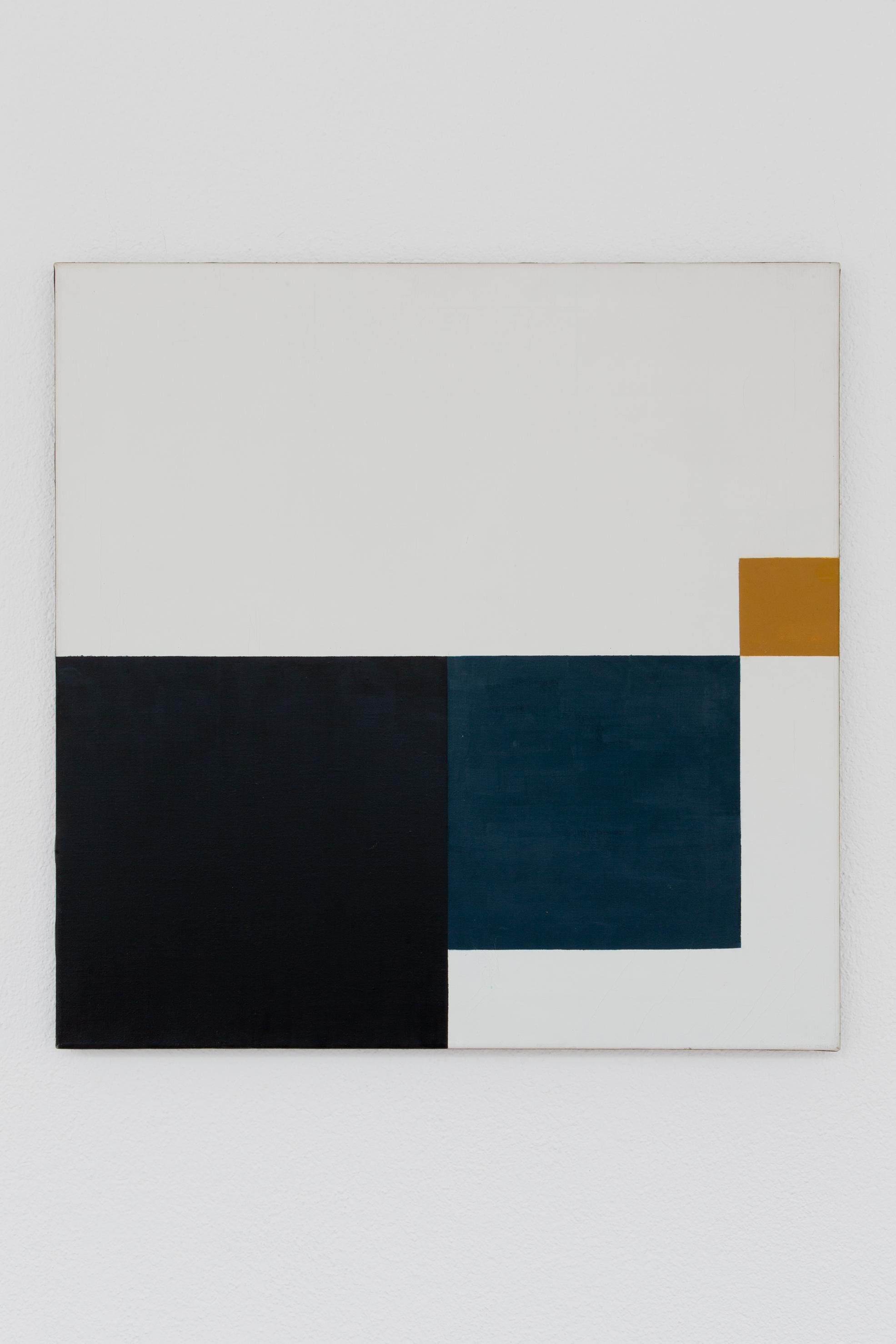 Hedi Mertens,  Ohne Titel , 1977, Öl auf Leinwand, 80 x 80 cm