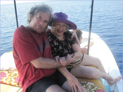 With Shimshon on a boat trip