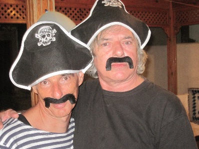 Meir and Shimshon as pirates at Shimshon's birthday party!