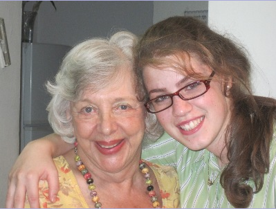 With Hannah, who will be a bride in December 2011. The 7th grandchild to be married.