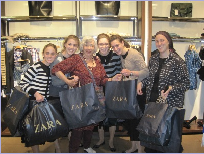 I take 5 grand-daughters on a shopping trip!