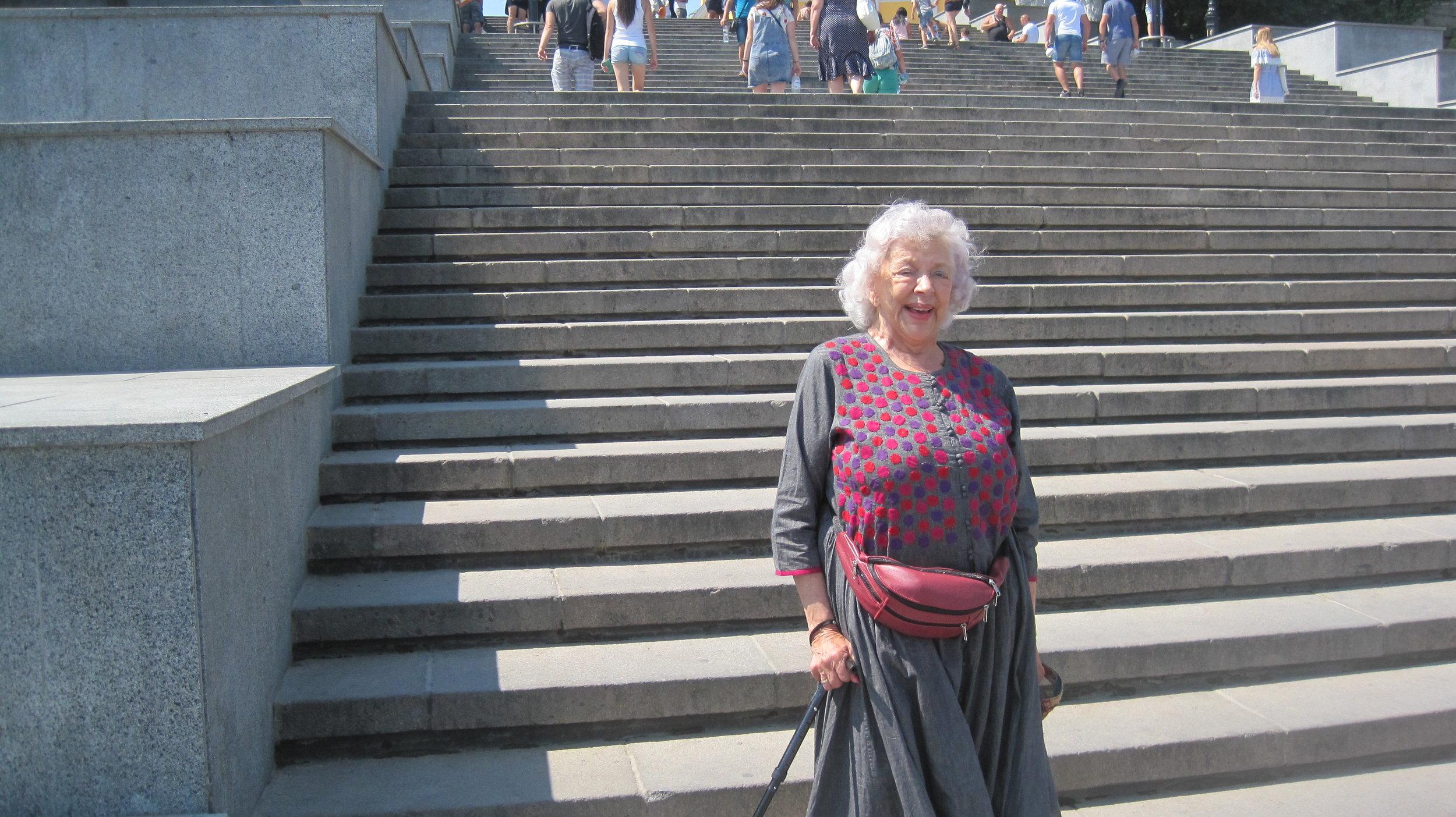 On the famous steps Odessa, Ukraine
