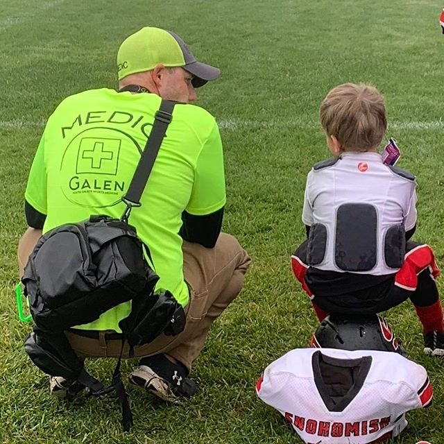 Alex, Galen President, out on the fields today. This is what we are all about. We are a hands on company with a mission to protect our children. #wearegalen #youthfootball #youthsports #everysporteveryplayeveryinjury