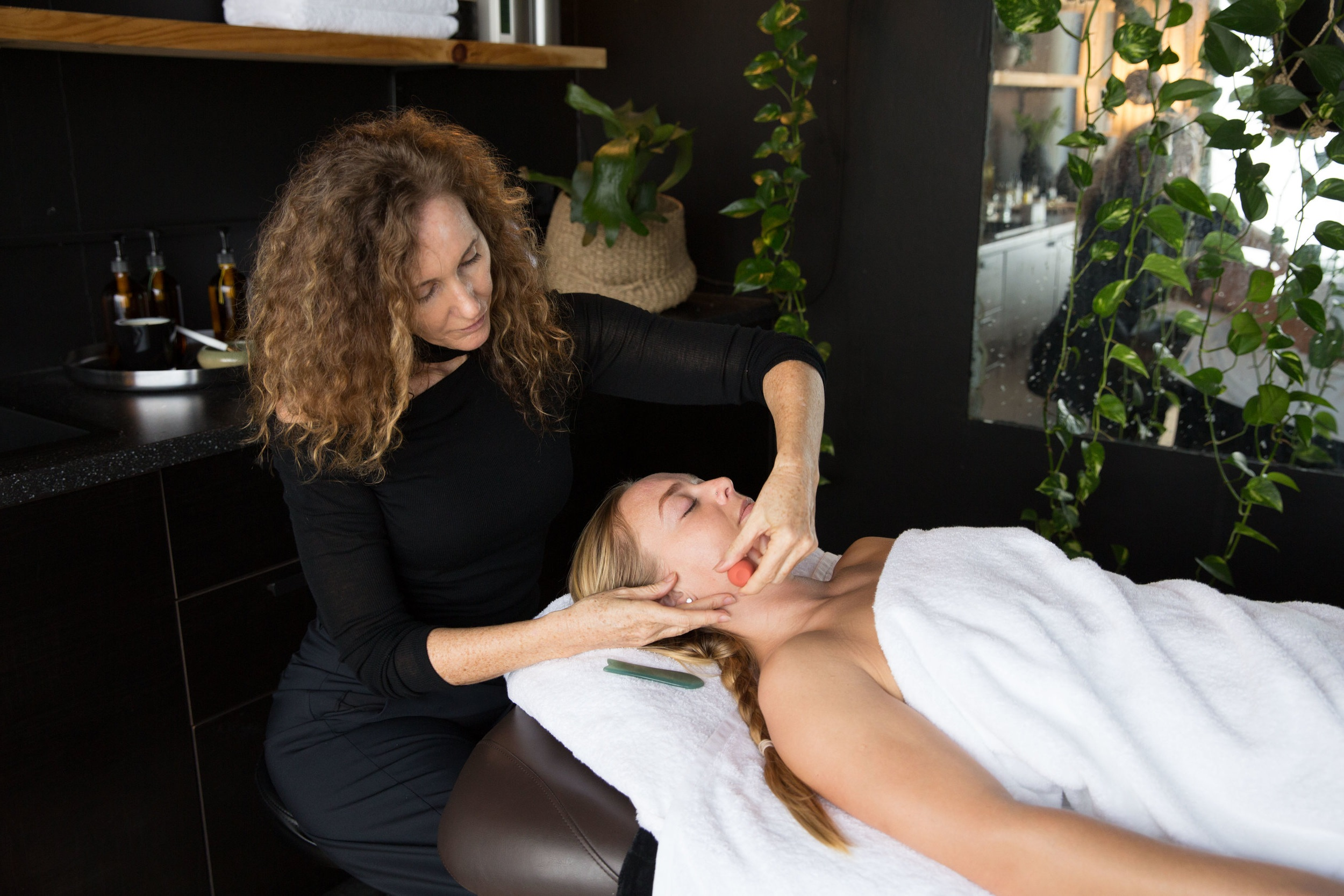 Gua Sha, Facial Cupping and Derma Rolling for increasing collagen and elastin in your skin.