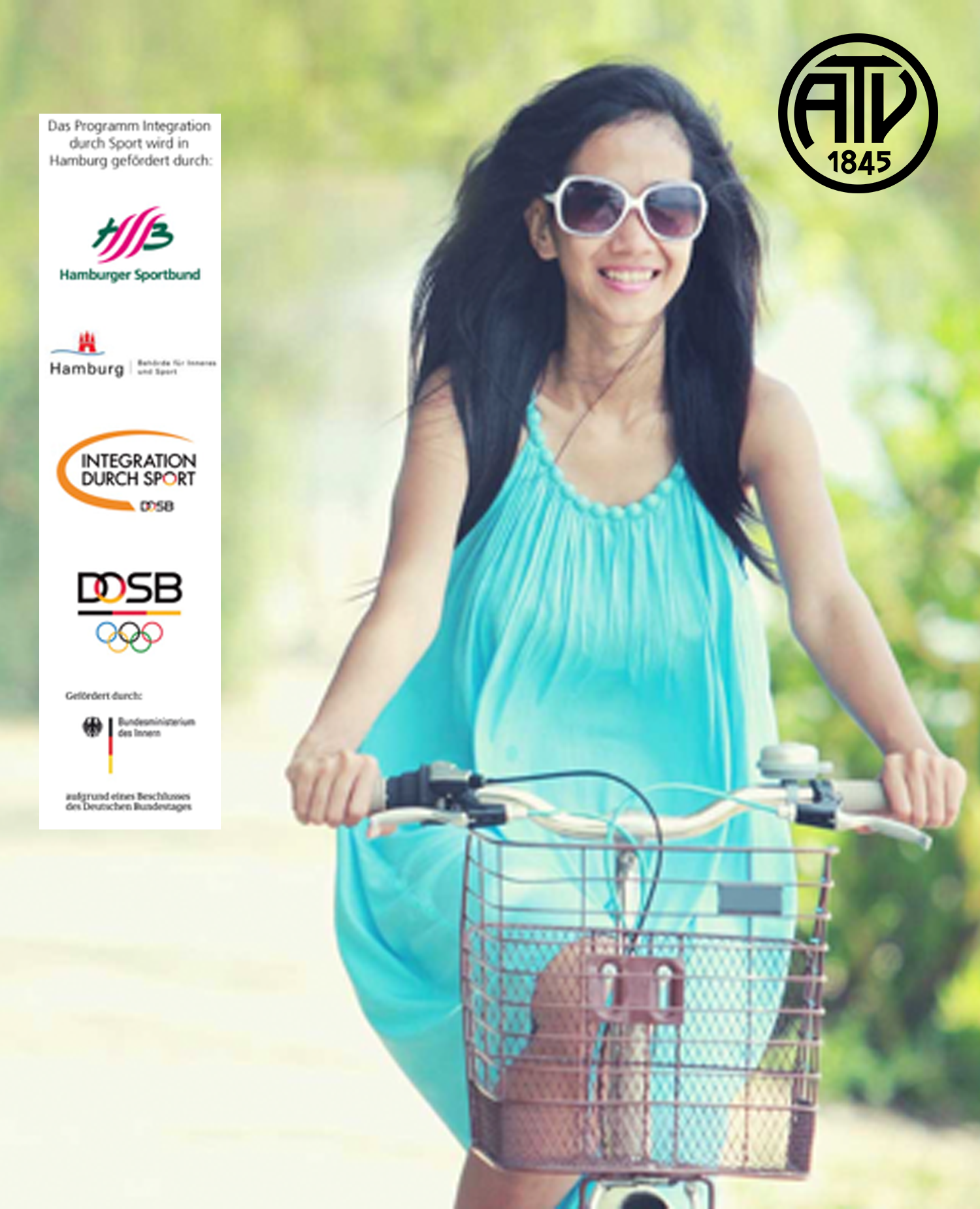 """Liebe Mitglieder,  im Rahmen des Programms ,,Integration durch Sport"""", bietet der Hamburger Sportbund (HSB) das Projekt ,,Fahrradfahren lernen für Frauen"""" an. Dieses Projekt richtet sich an Frauen aller Kulturen Angeleitet wird der Kurs von unserer zertifizierten Radfahrlehrerin Sema. Sie werden von ihr Schritt für Schritt an die Fortbewegung auf zwei Rädern herangeführt.  Dieser Kurs ist als Intensivkurs aufgebaut, bei dem Sie über 8 Tage hinweg mit jeweils 2 Stunden/ Tag langsam und sicher das Radfahren erlernen. Die zur Ausbildung benötigten Fahrräder werden vom ATV für Sie zur Verfügung gestellt.    Euer ATV-Team"""