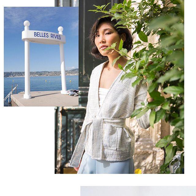 The SS18 capsule was largely inspired by the Belles Rives hotel in Juans Les Pins, formerly the home to Zelda and Scott Fitzgerald, the famous writers couple in the 20s and 30s. Another icon of those days was also Renee Perle, a muse/it girl often shot by Jacques-Henri Lartigue. There are a few candid photos of her in the small butterfly museum in St Tropez but have a google of her name and you'll find plenty. . . . . . . #handmade #dressmaking #designerlife #lifeinfashion #madeinparis #creativity  #3Dstudio #draping  #fashionbehindthescenes #fashiondesigner #creativity #fashiondesign #fashionphotography #couture #designer #moodboard #graphics  #pastels #colorful #diy #creative #scandichic #scandienne #parisiandesigner #reneeperle