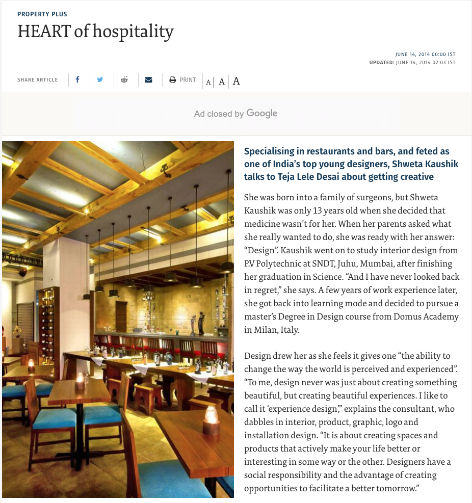 Heart of Hospitality- The Hindu -