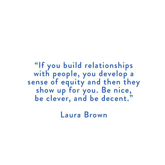 Read more wise words from our interview with Laura on the blog. Link in bio!