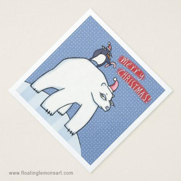 09-Polar-Bear-Christmas-blue-Dinner-Paper-Napkins.jpg