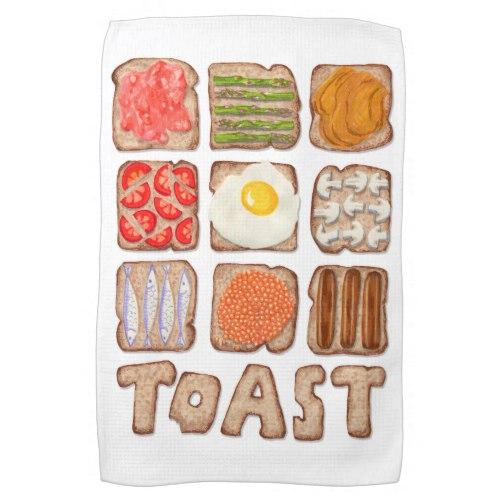Breakfast Toast Kitchen Towels:  USA  and  UK
