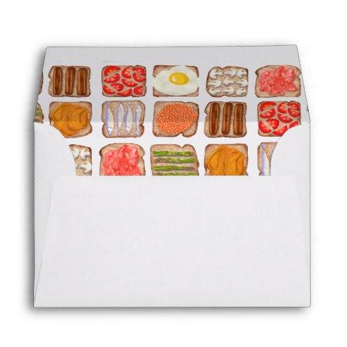 Breakfast Toast Envelopes:  USA