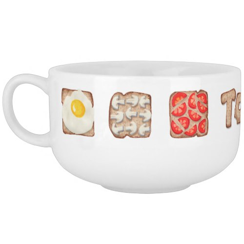 Breakfast Toast Soup Mugs:  USA  and  UK