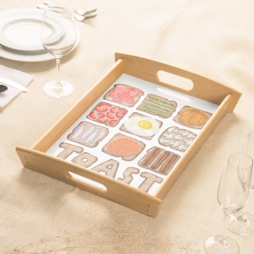 Breakfast Toast serving trays:  USA  and  UK