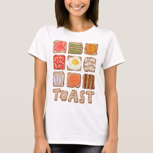 Breakfast Toast T-shirts:  USA  and  UK