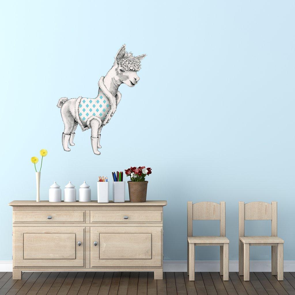 Alpaca interior decor art sticker decal by Floating Lemons Art