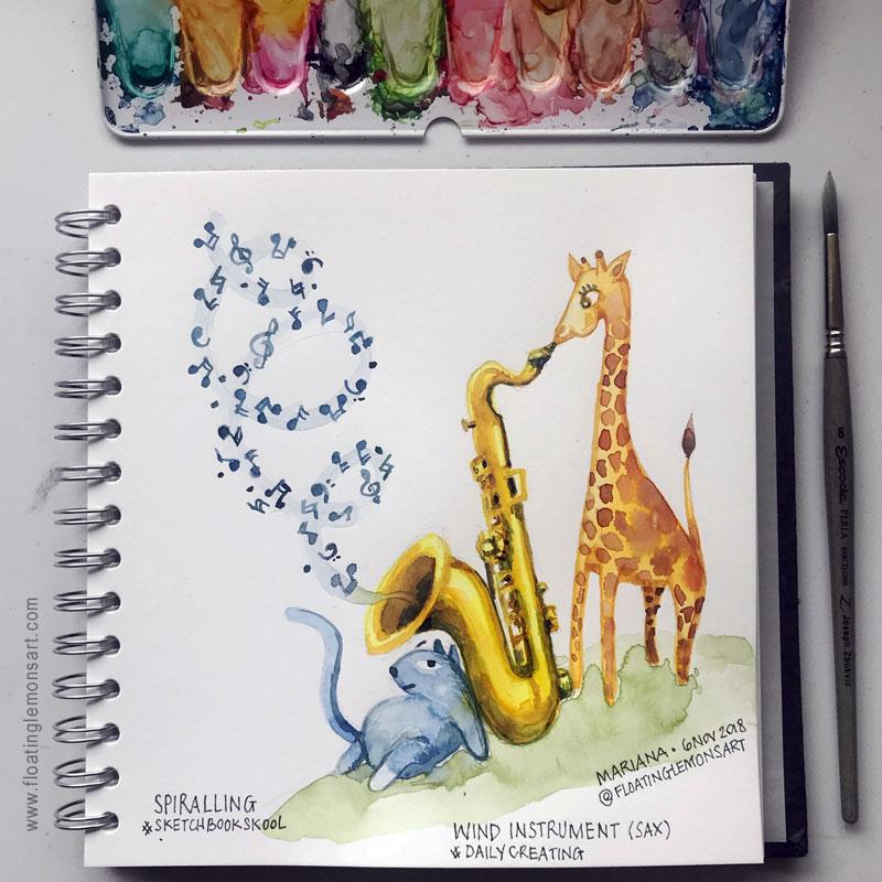Daily01-Spiralling-Saxophone1-floatinglemonsart.jpg