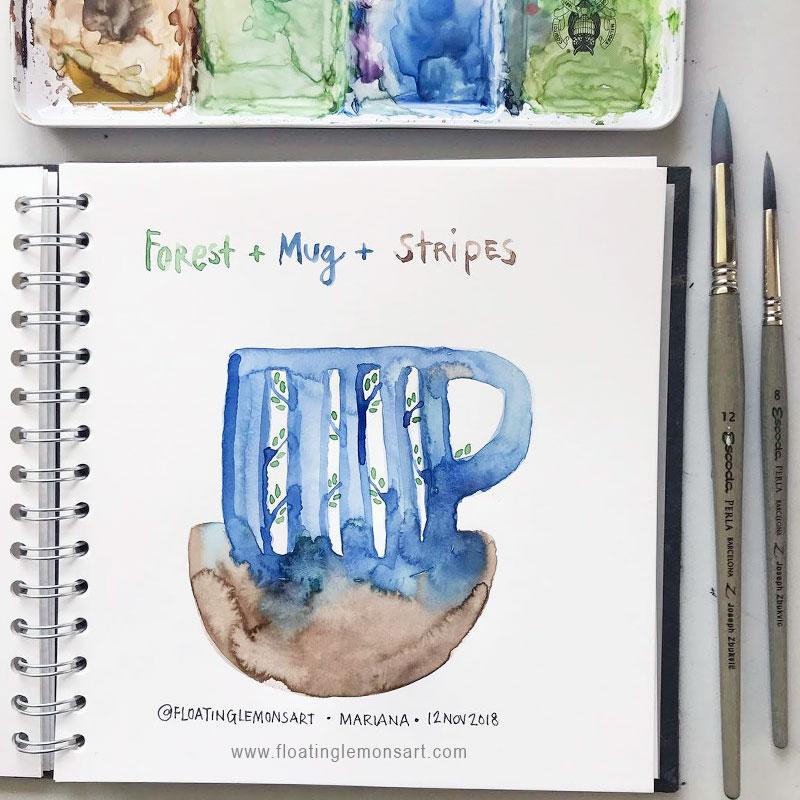 Daily07-Forest-Mug-Stripes-floatinglemonsart.jpg