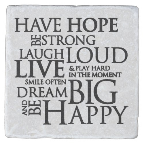 Have Hope Be Strong Typography Motivational Quote Stone Coaster by  Shabz Designs  for Zazzle  USA  and  UK