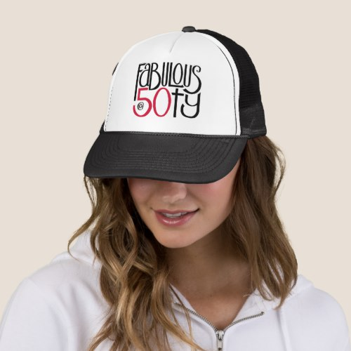 Fabulous 50 red Hat by Floating Lemons for Zazzle  USA  and  UK