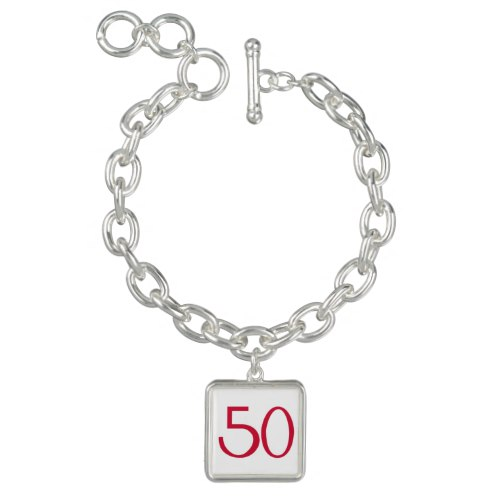 50 red bracelet by Floating Lemons for Zazzle  USA  and  UK