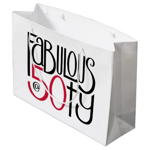 Fabulous at 50 red Gift Bag by Floating Lemons for Zazzle  USA  and  UK