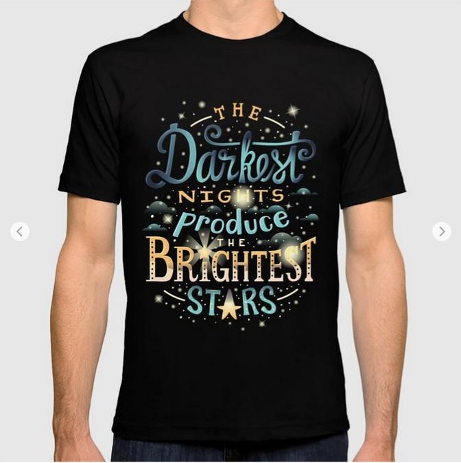 Brightest Stars T-shirt by Lisa Rodil on Society6