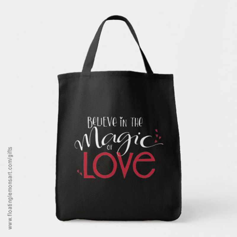 Magic of Love Grocery Tote: Floating Lemons Art -  USA  and  UK