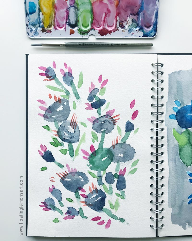 Blobby Flowers by  Floating Lemons Art