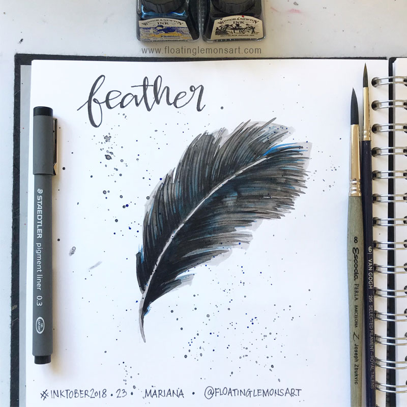 Feather by  Floating Lemons Art