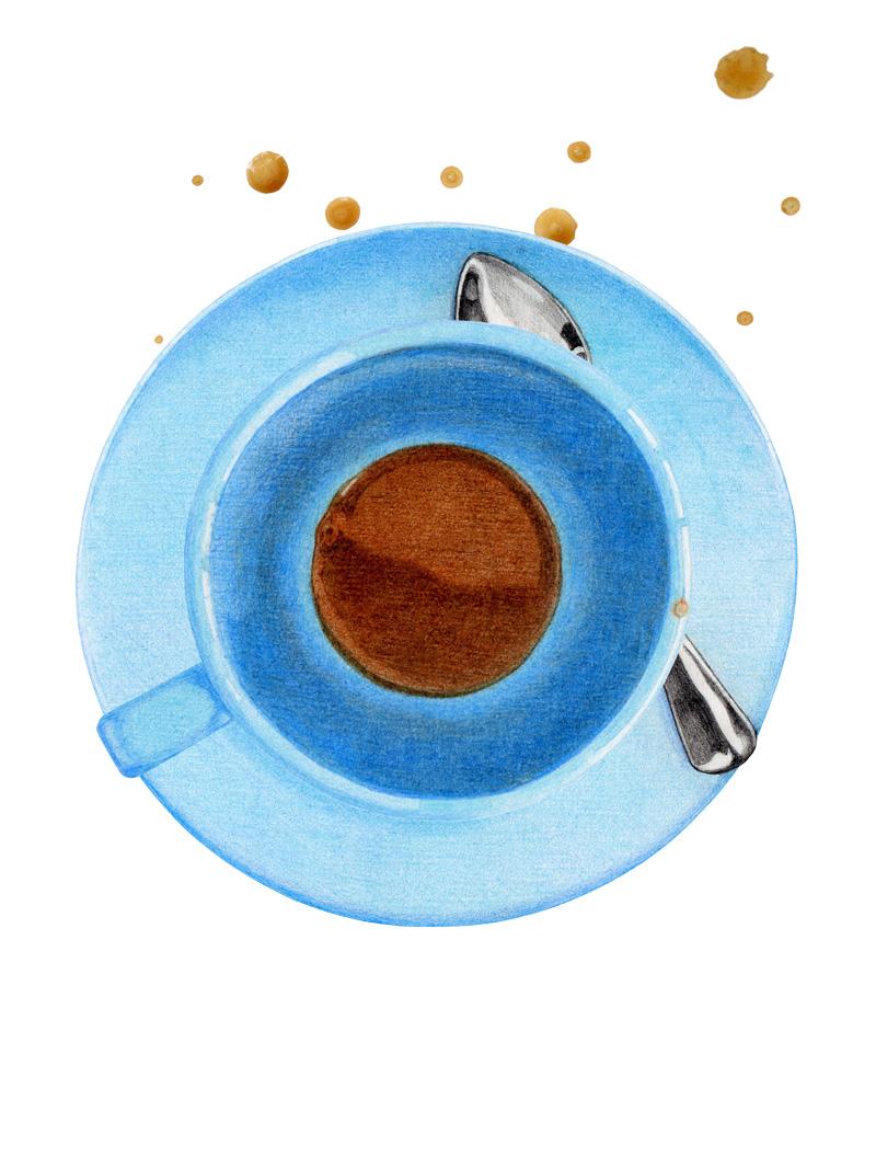 Coffee Break 2 by Mariana:  Floating Lemons Art