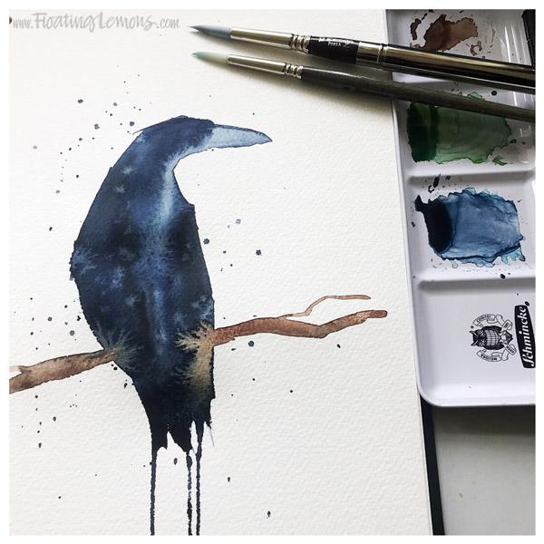 Raven by Mariana:  Floating Lemons Art