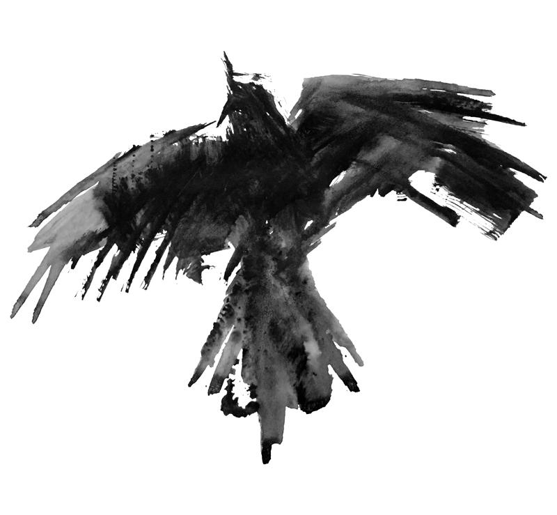 Raven Flight by Mariana:  Floating Lemons Art