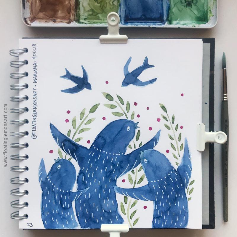 Swift Choir by Mariana:  Floating Lemons Art