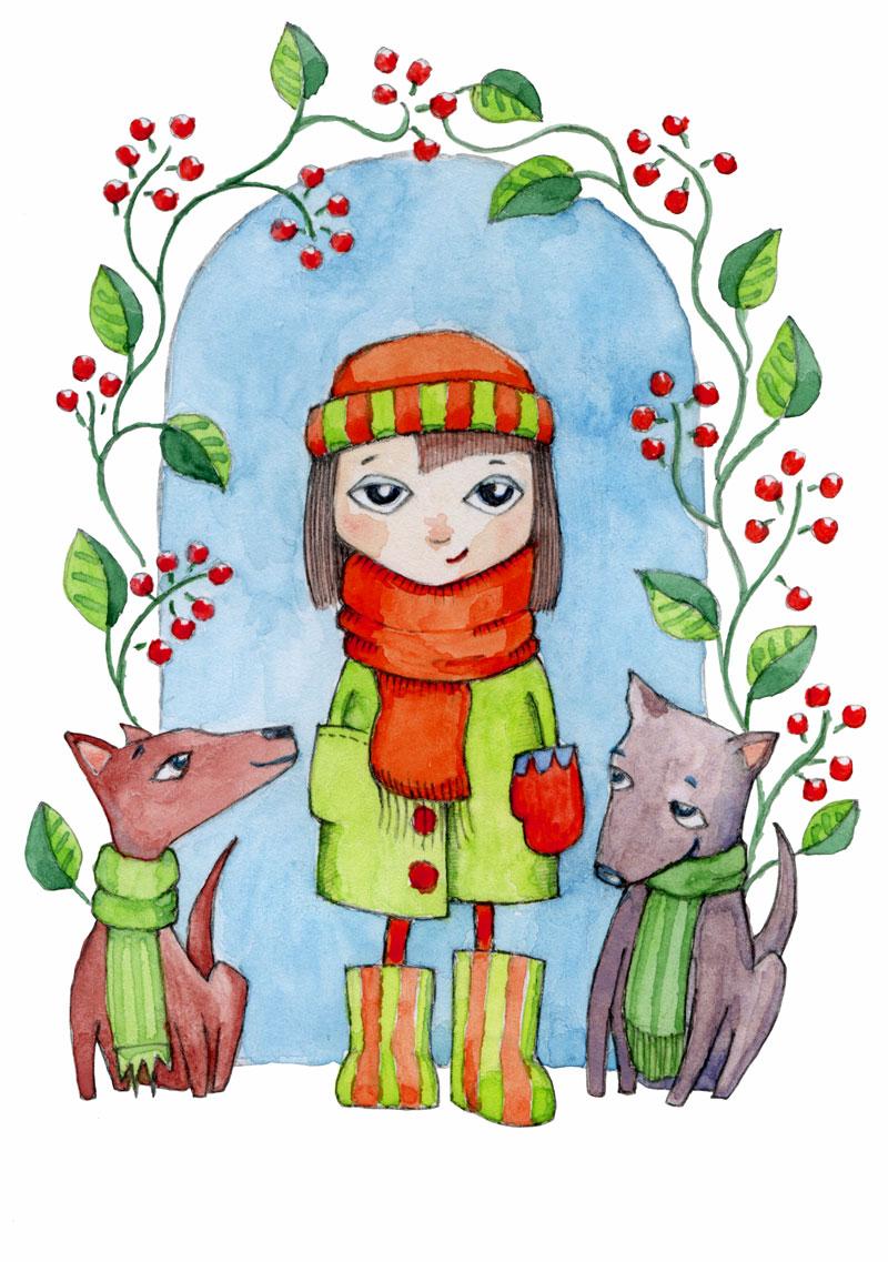 Winter Fun by Mariana:  Floating Lemons Art