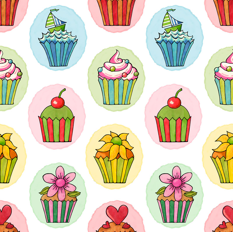 Quirky Cupcakes by  Floating Lemons Art