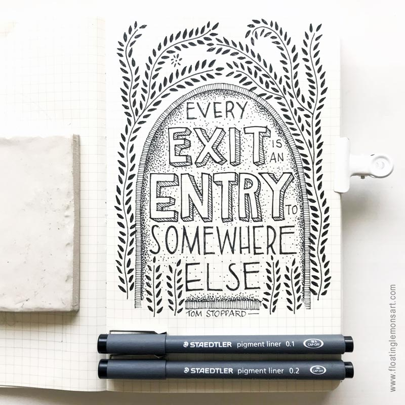 Every Exit by  Floating Lemons Art