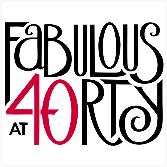 Fabulous at 40 red by  Floating Lemons Art