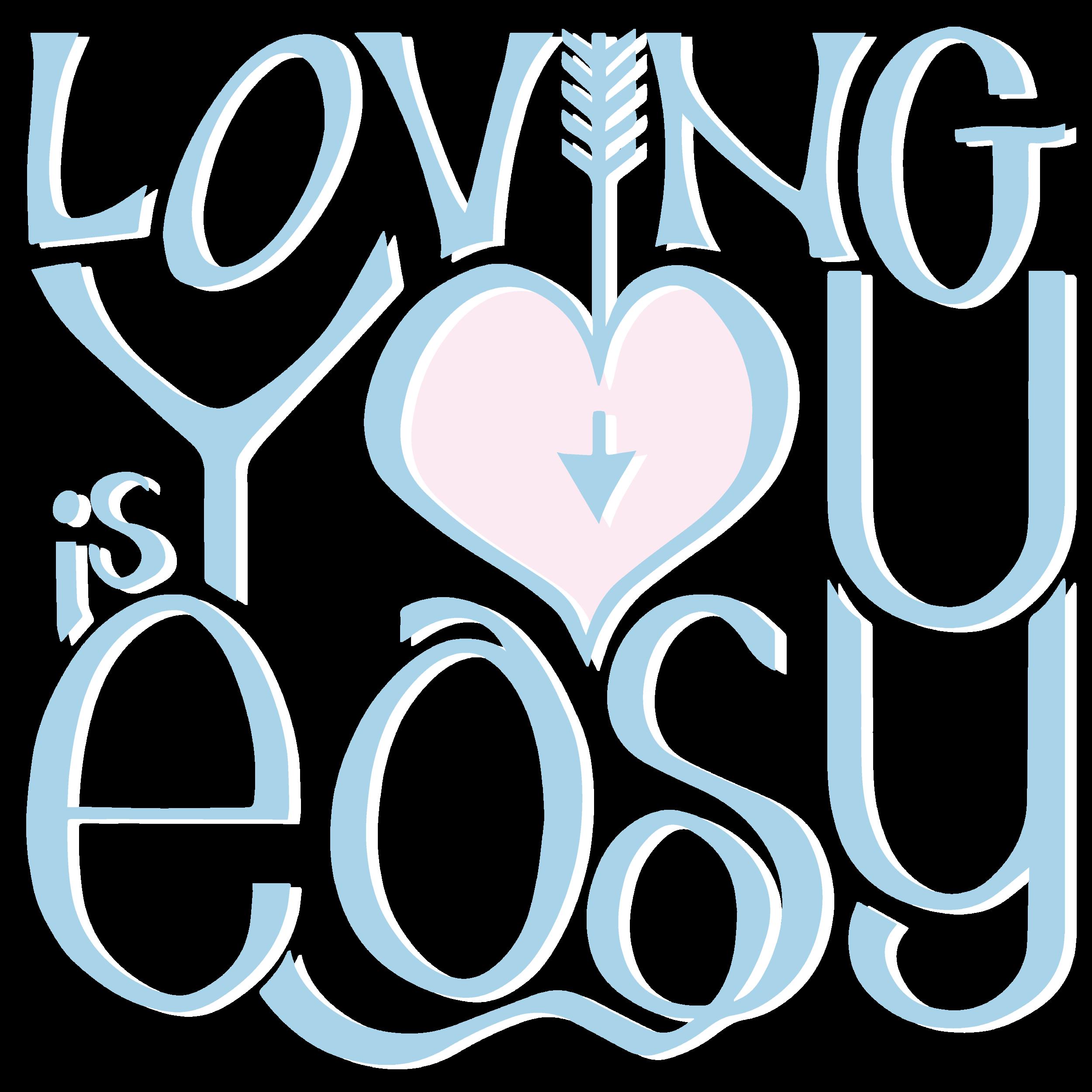 Loving You Pink Blue by  Floating Lemons Art