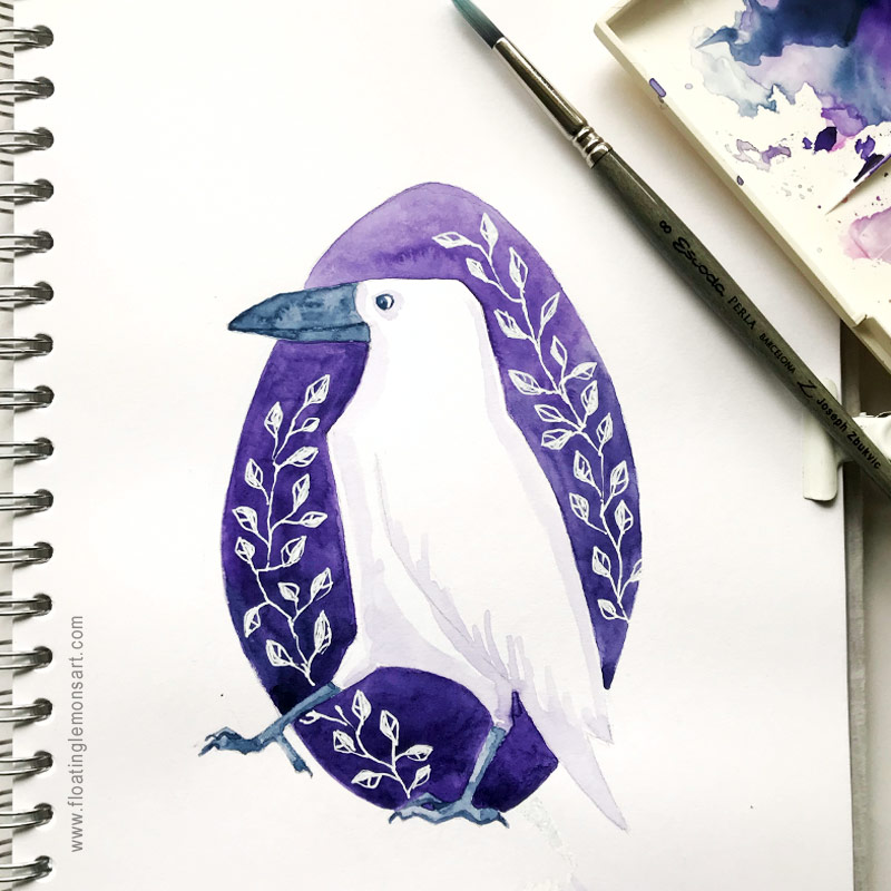 Circle Raven by Mariana: Floating Lemons Art