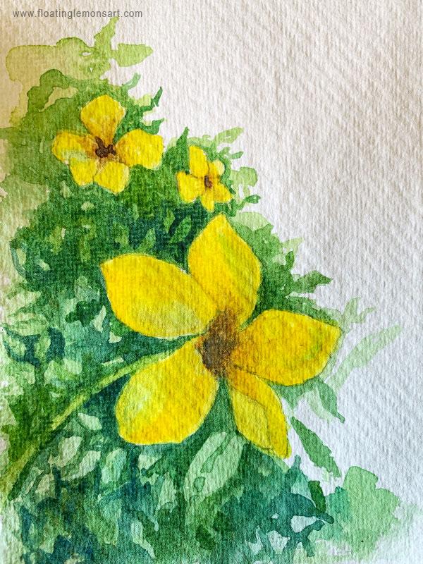 Yellow Jasmine (I think!) Tropical Flowers by Mariana : Floating Lemons Art